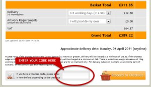 Discount Code On The Basket Page