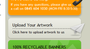 The Venture Banners Artwork Upload Facility