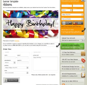 Banner Templates on the Venture Banners website