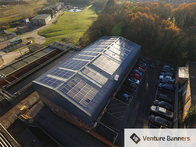 Solar Panels at Venture Banners