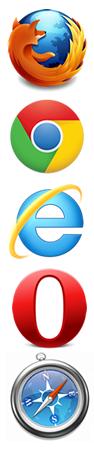 Modern Web Browsers: Firefox, Chrome, IE9, Opera, Safari