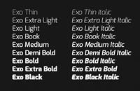 Exo Sans (Specimen)