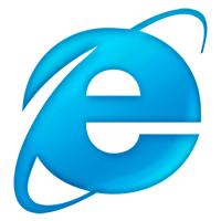 IE Logo circa 2001, aka The 'Blue e'